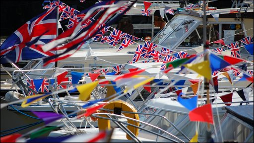 Flags at the harbour festival