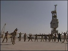 Iraqi Marines training