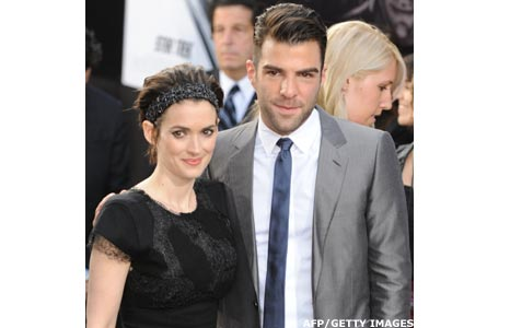 Zachary Quinto and Winona Ryder