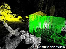 3D image of Saint Domitilla catacomb (Photo: Dr Norbert Zimmerman, Vienna Academy of Sciences)