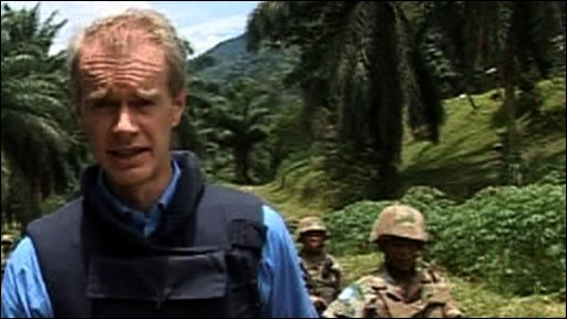 Stephen with UN troops in eastern Congo