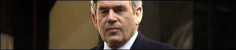 Gordon Brown at Downing Street