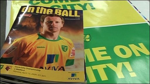 Norwich City match programme