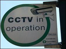 CCTV sign, BBC