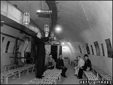 Wartime bunker in old Tube station