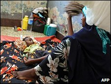 Mother and child in Somali hospital