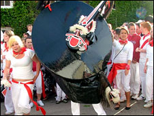 Obby Oss celebrations in Padstow