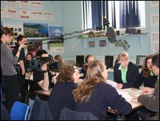 Teachers TV filming at Guildford County School