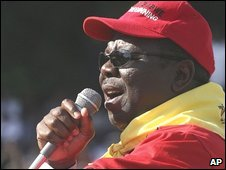 "Zimbabwe""s Prime Minster, Morgan Tsvangirai, addresses the crowd during May Day celebrations in Harare"