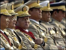 Military generals attend the 64th anniversary of Armed Forces Day