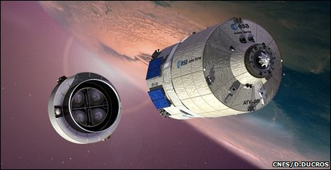 Artist's impression of ATV separation (CNES)