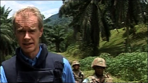 Stephen on patrol with UN troops in Congo