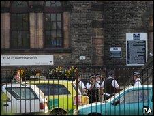 Scene of shooting outside Wandsworth Prison