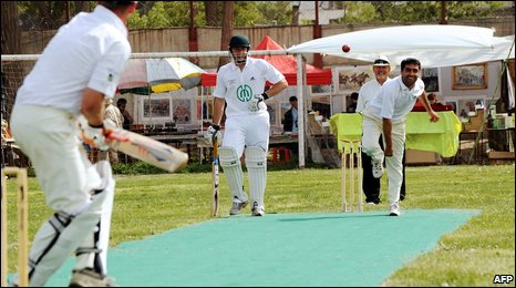 The Ditchling v Afghanistan cricket match in Kabul (1 May 2009)