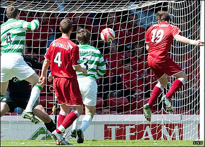 Chris Maguire heads Aberdeen in front