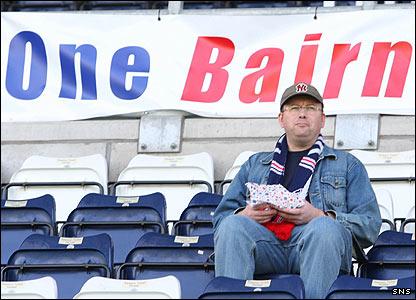 A lone Falkirk fan