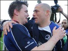 Brian O'Driscoll and Felipe Contepomi