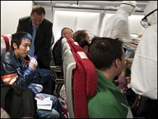Passengers on China-bound international flight tested for swine flu