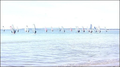 Windsurfers at Hayling Island