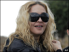 Madonna, pictured on a recent visit to Malawi