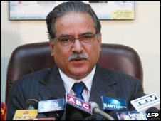 Prachanda makes his resignation announcement