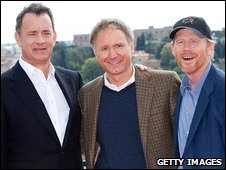Tom Hanks, Dan Brown and Ron Howard