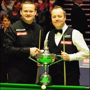 Shaun Murphy and John Higgins