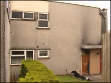House in Greenmeadow, Cwmbran where the fire took place