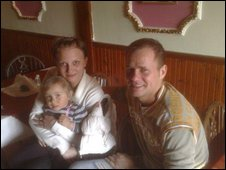 Radek Sobota and his family