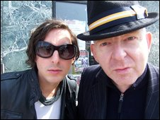 Carl Barat and Alan McGee