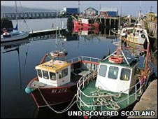 Fishing boats in Cromarty