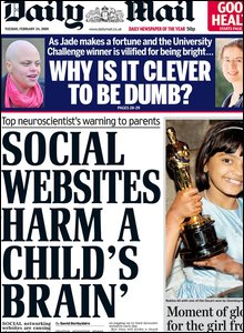 Daily Mail with social website headline