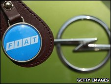 Fiat and Opel logos