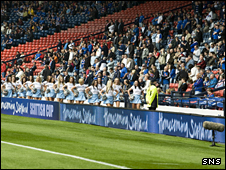 Empty seats at the Scottish Cup semi-final between Rangers and St Mirren