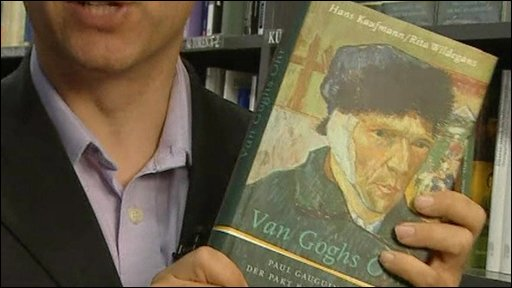 Book cover showing Van Gogh image with bandage over ear