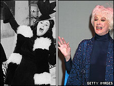 Bea Arthur in 1974 and 2002