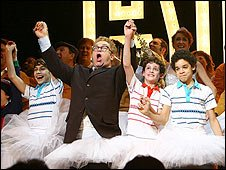 Sir Elton John and cast of Billy Elliot