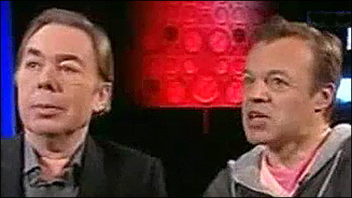 Andrew Lloyd Webber and Graham Norton