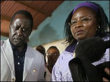 Ida Odinga and her husband Raila Odinga, Prime Minister of Kenya