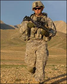US soldier in Wardak