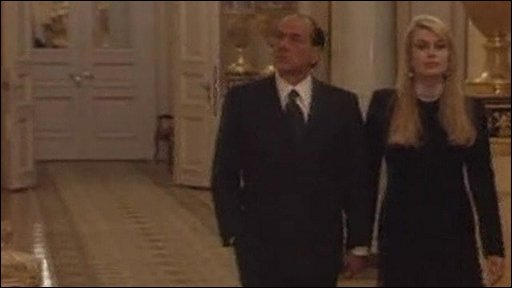 Silvio Berlusconi with Veronica Lario