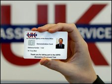A sample ID card