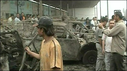 Bomb aftermath