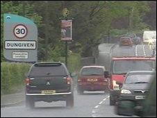 Commuters between Londonderry and Belfast travel through Dungiven