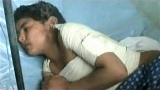 Boy in hospital