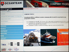 Oceanteam website