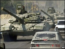 Russian tanks in South Ossetia (file pic)