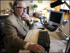 US radio presenter Michael Savage in California (03 December 2007)