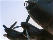 Lancaster bomber propellers