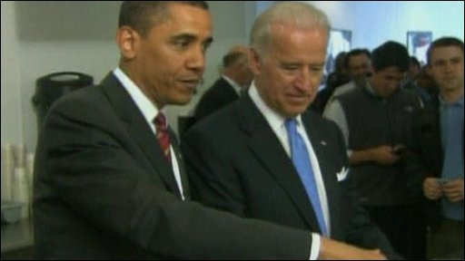 Obama and Biden ordering lunch